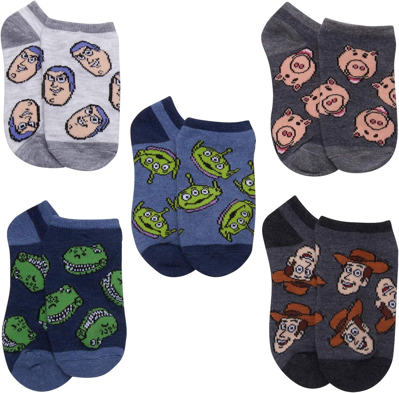 Disney Toy Story 5 Pack No Show Socks (Big Boys/Adult)