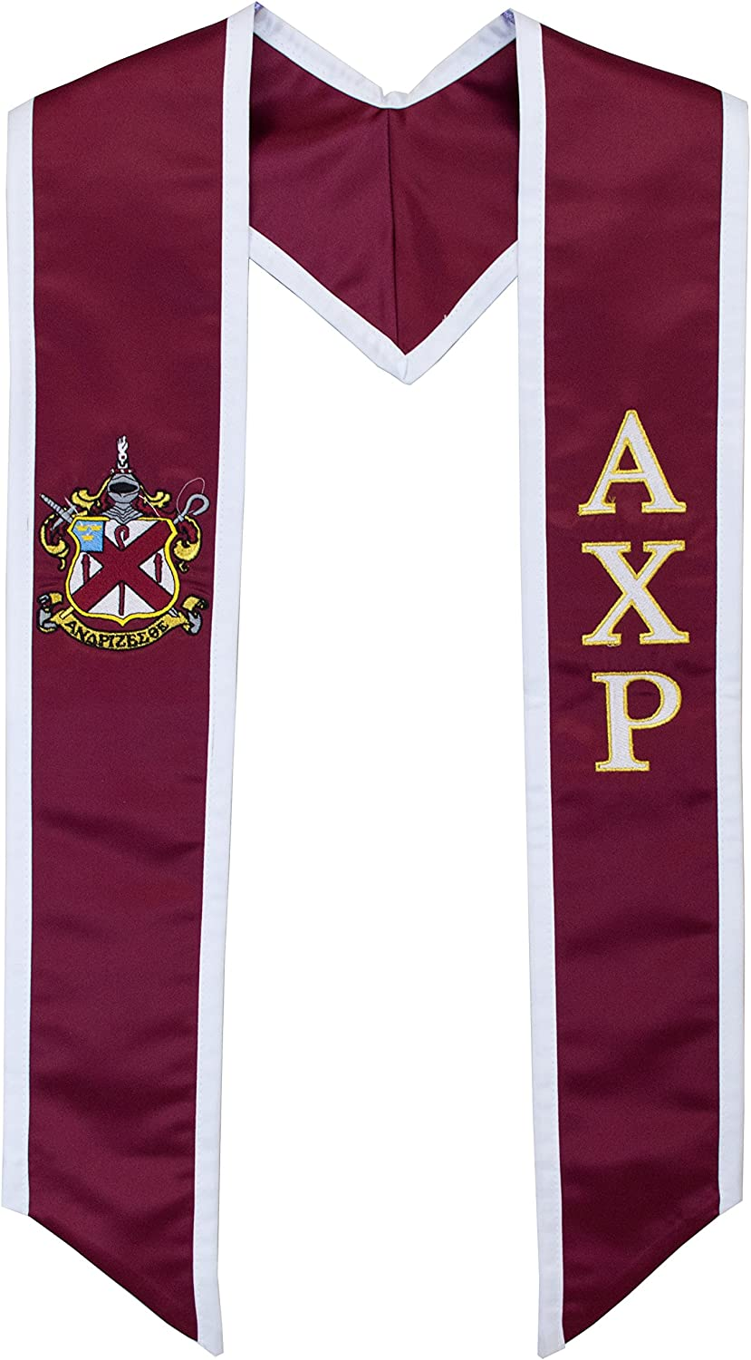 Alpha Chi Rho Quality inspection Fraternity Deluxe Graduation 2021 spring and summer new Stole Embroidered