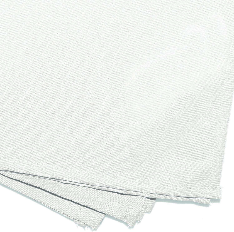 DOUCEUR DINTERIEUR 3 Napkins 40X40 Plain Polyester Essentiel Blanc White