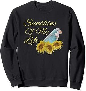 Quaker Parrot Blue Monk Parakeet Sunshine Sunflower Sweatshirt