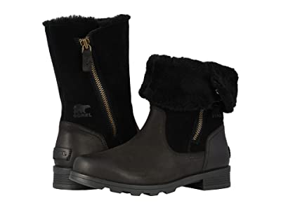 SOREL Emelietm Fold-Over (Black) Women