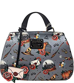 Loungefly x Harry Potter Relics Tattoo All Over Print Crossbody Bag