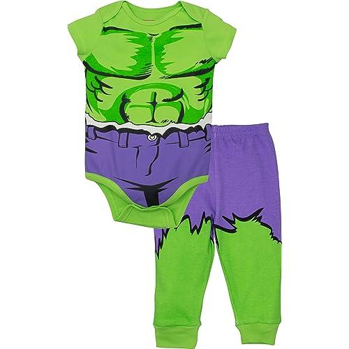 04fe18b4a0a Marvel Avengers Baby Boys  Bodysuit   Pants Clothing Set