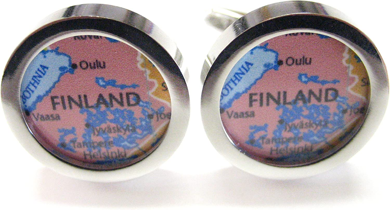 Finland Map Cufflinks