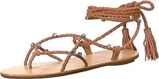 Loeffler Randall Women's Bo Wrap Sandal (Rhinestones), Deep Blush, 8 B US