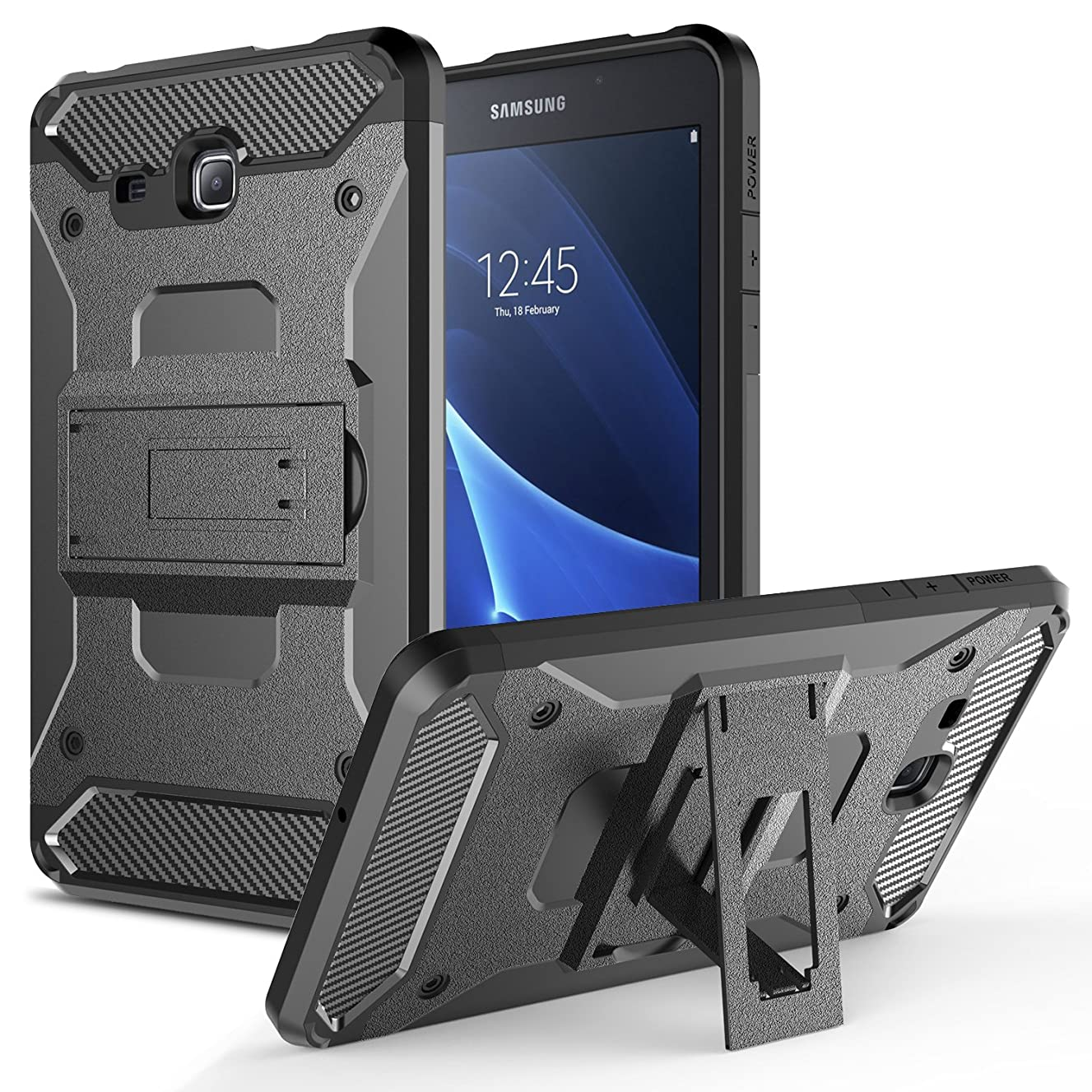 Galaxy Tab A 7.0 Case, Hasting [Heavy Duty] [Shockproof] Warrior Armor Triple Layer Protective Case Cover with Kickstand for Samsung Galaxy Tab A 7.0