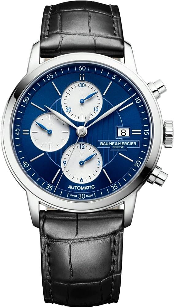 Baume & mercier classima cronografo edizione limitata quadrante blu 10373