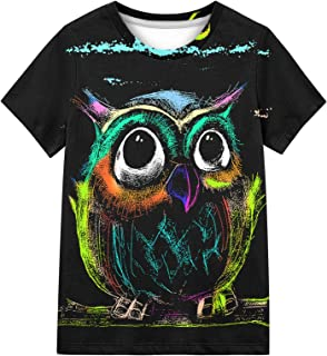 Kayolece Kid T-Shirts 3D Colorful Graphic Printed Shirts Tees for Boys and Girls 6-16 Years
