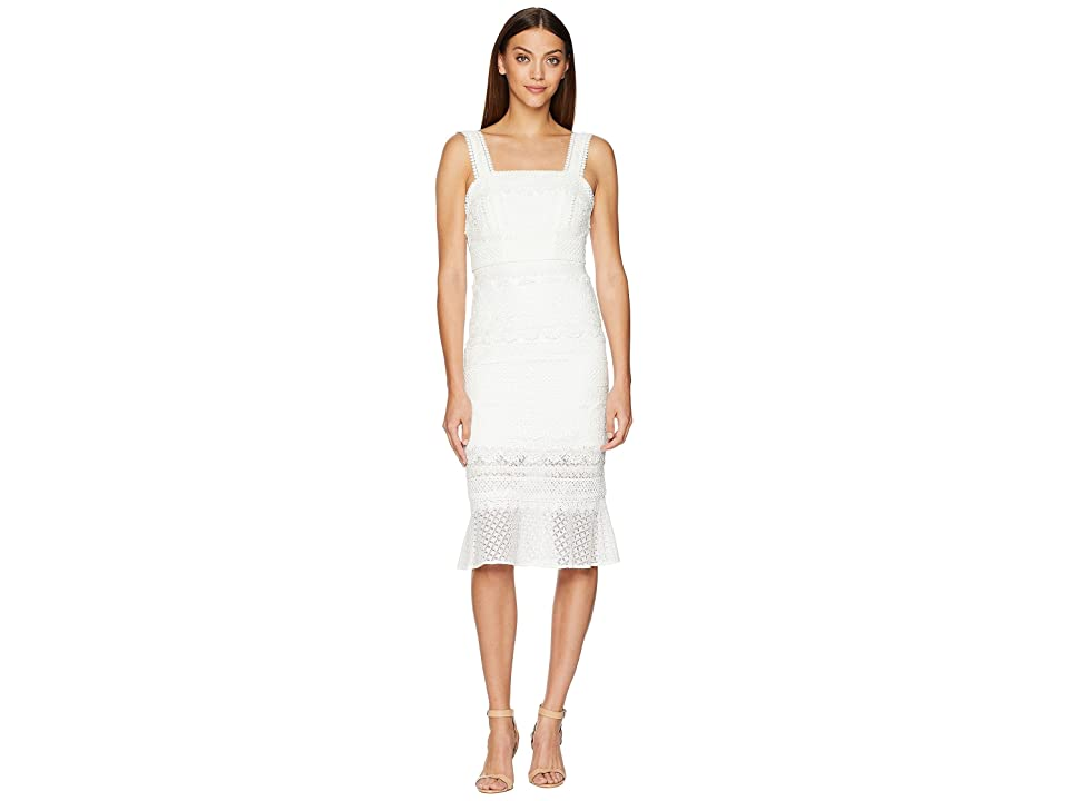 Nicole Miller Trumpet Dress (Ivory) Women
