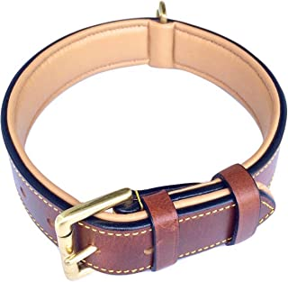 Soft Touch Collars – Luxury Real Leather Padded Dog Collar