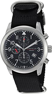 Momentum Men's Chronograph Collection Stainless Steel Japanese-Quartz Watch with Nylon Strap, Black, 22 (Model: 1M-SN34BS7B)