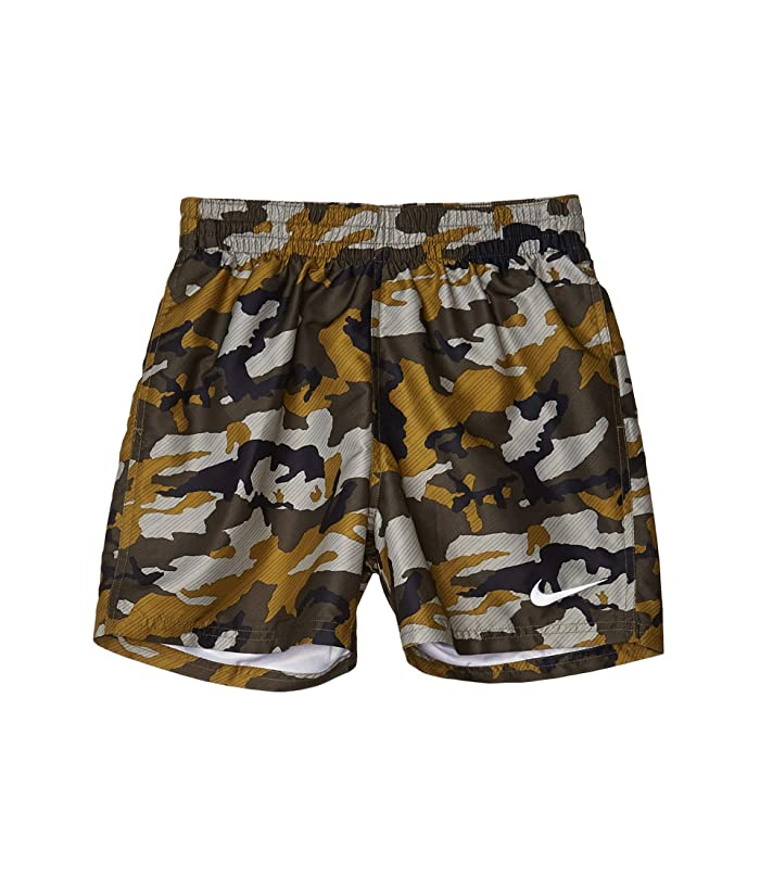 Nike Kids  4 Camo Volley Shorts (Little Kids/Big Kids) (Medium Olive) Boys Swimwear