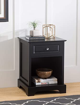 2L Lifestyle Carleton Side Table with Drawer Black Finish,  Small