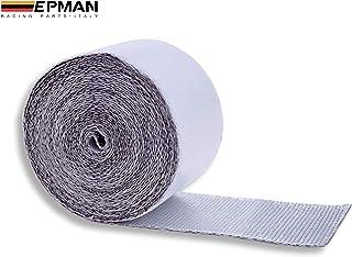 EPMAN Zelfklevende hittewerende tape van aluminium en glasvezel, 5 meter x 50 mm, warmtebescherming voor auto-luchtinlaat,...