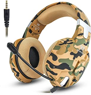 Jeecoo G1500 Stereo Gaming Headset with Microphone Compatible with PC, PS4, PS4 Pro, Xbox One S, Xbox One Controller, Nintendo Switch Games