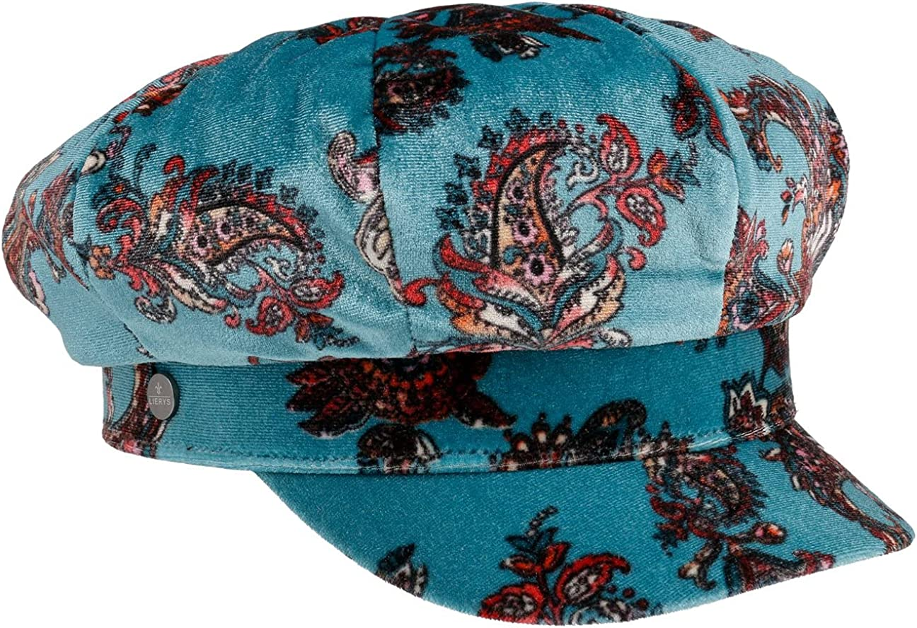 Lierys Paisley Velvet Newsboy Popular shop is the lowest price challenge Cap Latest item Made in - Italy Women