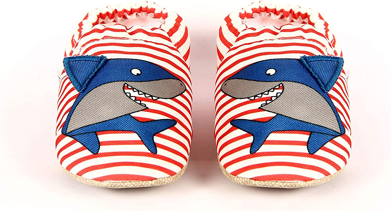 Baby On The Go First Steps Slip-On Baby Slipper, Sharky
