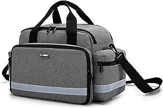 کیف لوازم پزشکی تروناب ، کیف پرستار دارای دسته و بند شانه برای مراقبت از بهداشت در منزل ، ویزیت بیمارستان ، سفر یا رویداد اضطراری ، فقط خاکستری