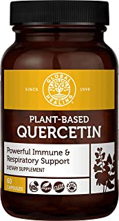 Global Healing Plant-Based Quercetin Supplement Capsules To Support Immune System Function, Respiratory Health & Body's Na...