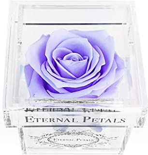 A 100% Real Rose That Lasts A Year - White Gold Solo (Light Lavender)