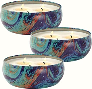 LA JOLIE MUSE Citronella Candles Set 3, Scented Candles Natural Soy Wax Tin, Outdoor and Indoor