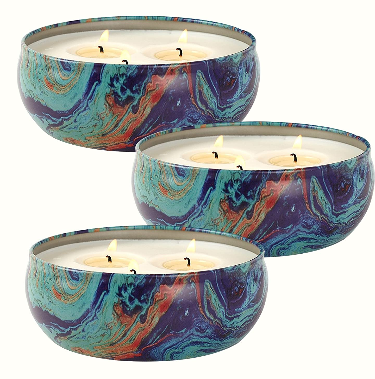 LA JOLIE MUSE Citronella Candles Set 3, 12 oz Each Scented Candle Natural Soy Wax, Outdoor and Indoor jcjzqmage