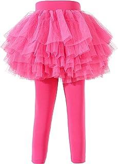 Baby Toddler Girls' Tutu Leggings Tulle Ruffle Skirted Pants 2-6T