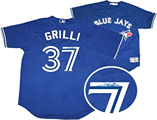 e47a0baa2 Frameworth Jason Grilli Signed Jersey Toronto Blue Jays Replica Blue -  Autographed MLB Jerseys