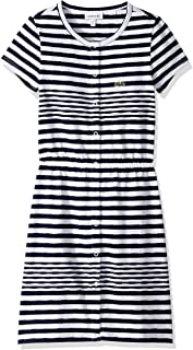 Lacoste Girl Feminine Capsule Jersey Striped Dress