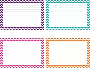 Top Notch Teacher Products Border Lined Index Cards (75 Count), 3