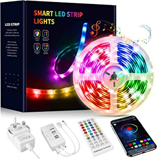 Beaeet LED Strip Lights 15M,Music Sync Color Changing LED Strip with App and Remote Controlled,Bluetooth RGB LED Light Str...