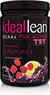 IdealLean BCAA For Women - Amino Acids for Women | Maximize Fat Burn & Lean Muscle Growth | Aids Weight Loss | Post Workou...