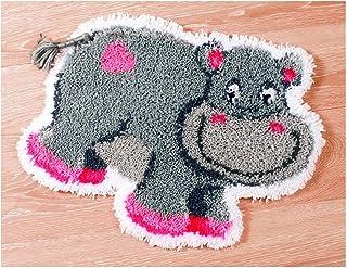 WYOUTDOOR Kit Tapis Crochet Crochet Bricolage Animaux pour Enfants Et Adultes Ensemble Kits Crochet Verrouillage avec Tous...