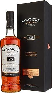 Bowmore 25 Jahre Single Malt Scotch Whisky, mit Geschenkverpackung, süß-torfige Rauchnote, 43% Vol, 1 x 0,7l