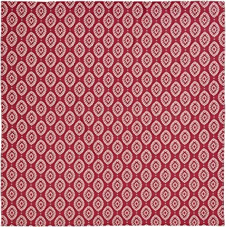 VHC Brands Coastal Bath - Paloma Red Shower Curtain, King, Crimson