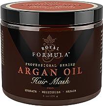 آرگان روغن ماسک مو، روغن آرگان 100٪ ORGANIC - تهویه مطبوع عمیق، مرطوب کننده و درمان کننده مو، مرطوب خشک، موهای رنگ شده و براق - هیدرات ها و رشد مو، 8 اونس