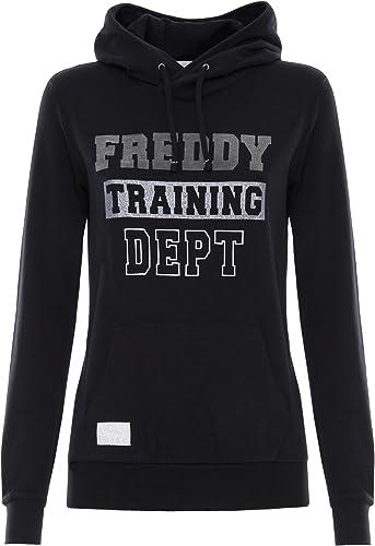 FrougeDY Sweat-Shirt 100% Coton irisé avec Flocage sur Le Devant - noir - Extra petit