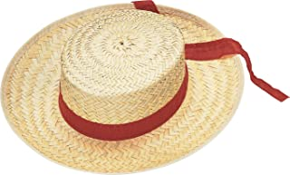 Costume Men's Straw Gondolier Hat