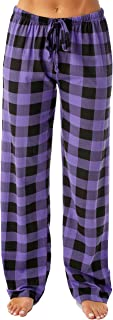 purple plaid pjs