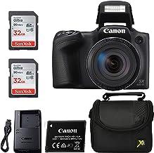 Canon Powershot SX420 Point & Shoot Cámara Digital Negro + 2 Sandisk Ulrta 32GB Clase 10 Tarjetas de memoria + Estuche para cámara Premium, paquete clásico