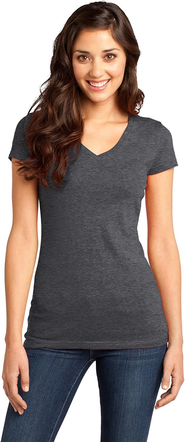 Clementine Tee V-Neck (DT6501) Heather Charcoal, 4XL