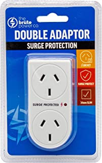 The Brute Power Co Double Plug Surge Protector Adaptor for Indoor Home Socket