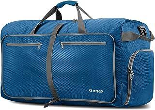 Gonex Leichter Faltbare Reise-Gepäck 100L Duffel Taschen Übernachtung Taschen/Sporttasche für Reisen Sport Gym Urlaub Schwarz