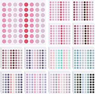 3200 Pieces Colored Dots Sticker 1/4 Inch Round Coding Labels Circle Dot Stickers Removable Color-Code Dot Stickers for Bo...