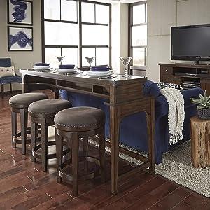Liberty Furniture Industries Aspen Skies 4 Piece Console Set, Russet Brown
