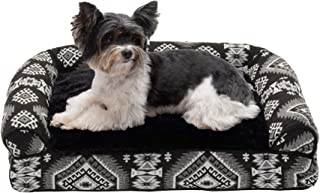 Furhaven Pet Dog Bed - Plush Kilim Southwest Home Decor Pillow Cushion Traditional Sofa-Style Living Room Couch Pet Bed wi...