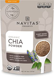 Navitas Organics Chia Seed Powder Bag, 8 Ounce