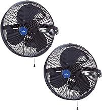 "iLiving ILG8E18-15 18"" Wall Mounted Adjustable Outdoor Waterproof Fan (2 Pack)"