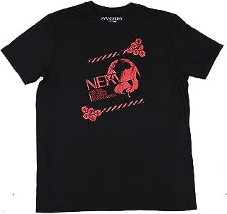 Neon Genesis Evangelion NERV Logo Distressed Men's Screen Print T-Shirt