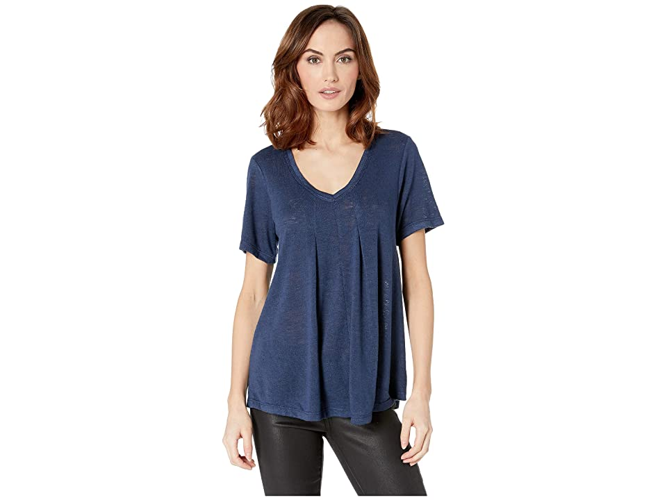 B Collection by Bobeau Annabel Swing Top (Navy) Women's Short Sleeve Pullover